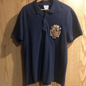 56e92bae26 Lacoste Men's Knitted polo Shirt - Navy Blue Large